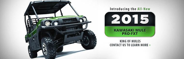 Introducing the All-New 2015 Kawasaki Mule PRO-FXT: Contact us to learn more.
