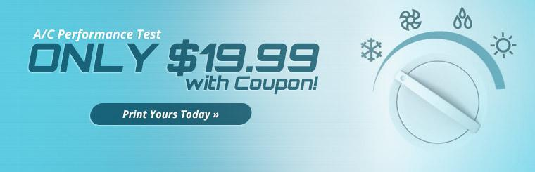 A/C Performance Test: Only $19.99 with a coupon! Click here for details.