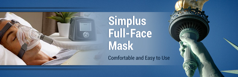 The Simplus full-face mask is comfortable and easy to use!
