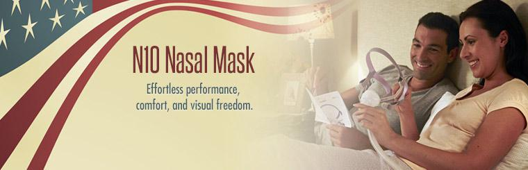 Click here to view the N10 nasal mask for effortless performance, comfort, and visual freedom.
