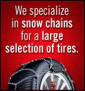 We specialize in show chains for a large selection of tires. Contact us for more info!
