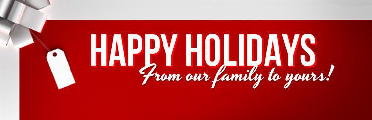 Merry Christmas and Happy New year from our family to yours! Click here to learn more about us.