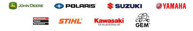 We proudly carry products from Kawasaki, GEM, John Deere, Polaris, Suzuki, Yamaha, Honda Power Equipment, and Stihl.