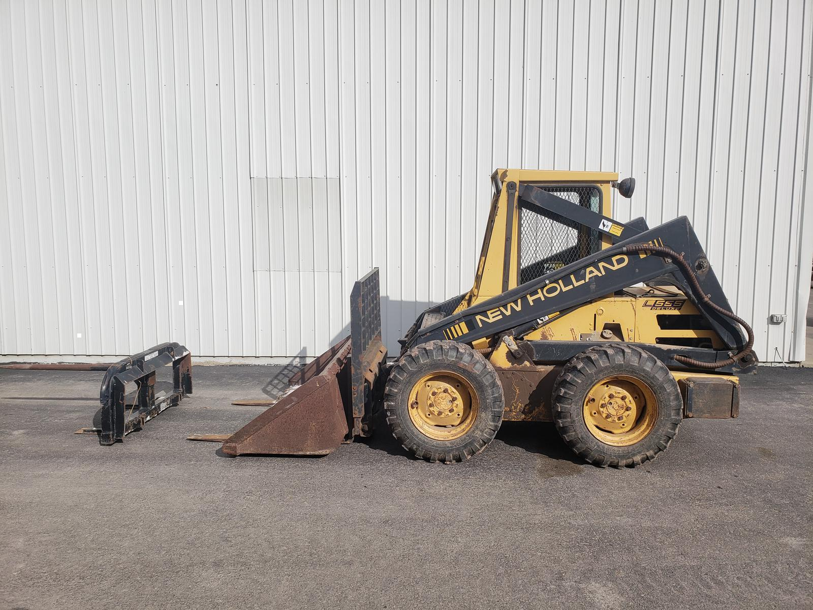 New holland l555 deluxe hydraulic problems | New Holland L555 deluxe on