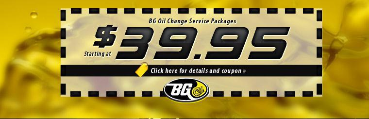 $39.95 BG Oil Change