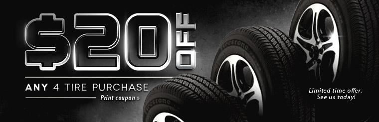 $20 Off 4 Tire Purchase