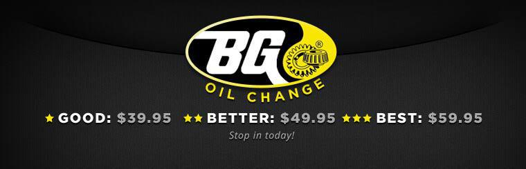 Click here for a coupon to receive a BG oil change service.