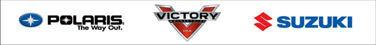 We proudly carry products from Polaris, Suzuki, and Victory.