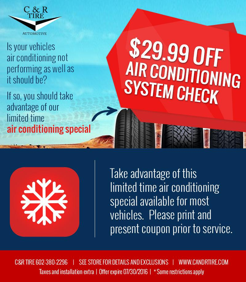 Air Conditioning System Check CR Tire