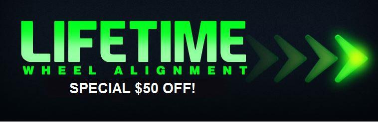 Click here for a coupon to receive $20 off any wheel alignment.