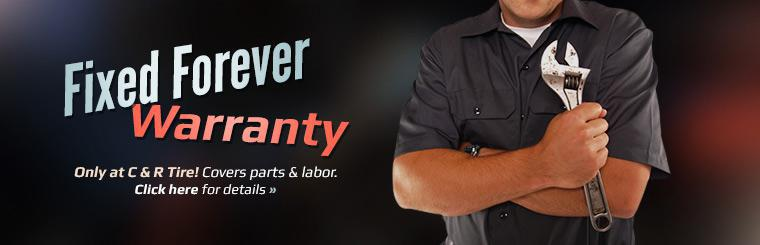 Fixed Forever Warranty: Click here for details.