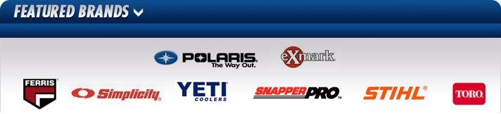 We carry products from Polaris, Exmark, Ferris, Simplicity, Yeti, Snapper Pro, STIHL, and Toro.
