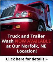 Truck and Trailer Wash Now Available at Our Norfolk, NE Location! Click here for details.
