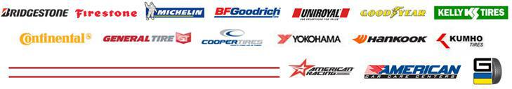We carry products from Bridgestone, Firestone, Michelin®, BFGoodrich®, Uniroyal®, Goodyear, Kelly Tires, Continental, General Tire, Cooper Tires, Yokohama, Hankook, Kumho, and American Racing. ACCC. G.
