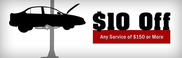 Get $10 off any service of $150 or more! Click here to print the coupon.