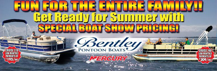 Bentley Pontoon Boats - Boat Show Pricing