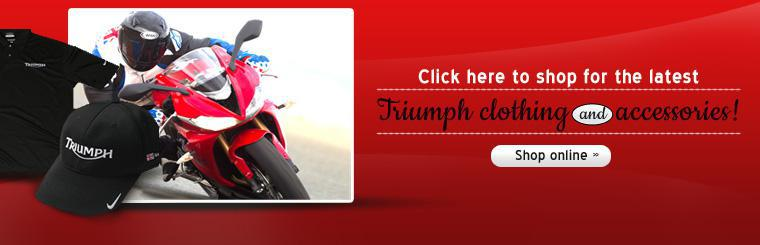 Click here to shop for the latest Triumph clothing and accessories!