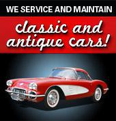 We service and maintain classic and antique cars!