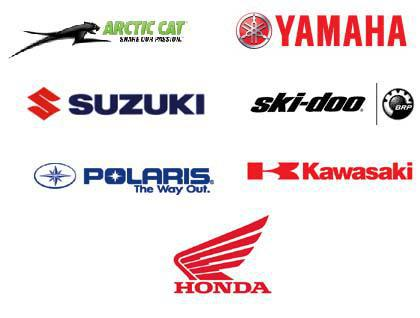 We service Snowmobiles and ATVs from Arctic Cat, Yamaha, Suzuki, Ski-Doo, Polaris, Kawasaki, and Honda.