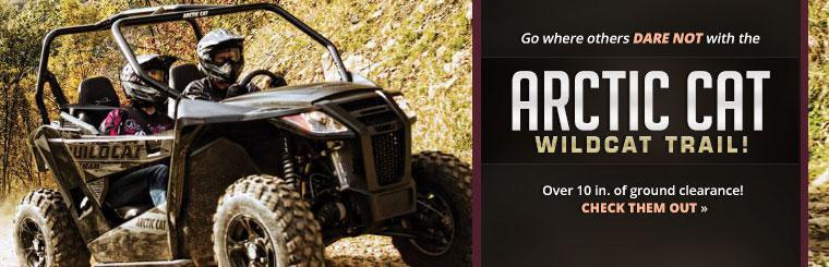 Go where others dare not with the Arctic Cat Wildcat Trail!
