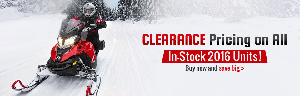 Clearance Pricing on All In-Stock 2016 Units: Buy now and save big!