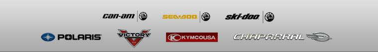 We proudly offer products from: Can-Am, Sea Doo, Ski-Doo, Polaris, Victory, Kymco, and Chaparral.