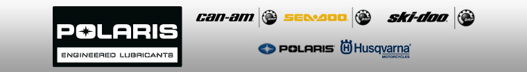 We proudly offer products from: Polaris Lubricants, Can-Am, Sea Doo, Ski-Doo, Polaris, and Husqvarna.