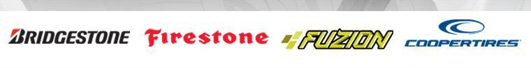 We are proud to offer products from: Bridgestone, Firestone, Fuzion, and Cooper.