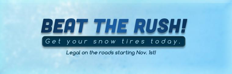 Get your snow tires today.