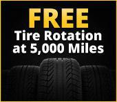 Free Tire Rotation at 5,000 Miles.