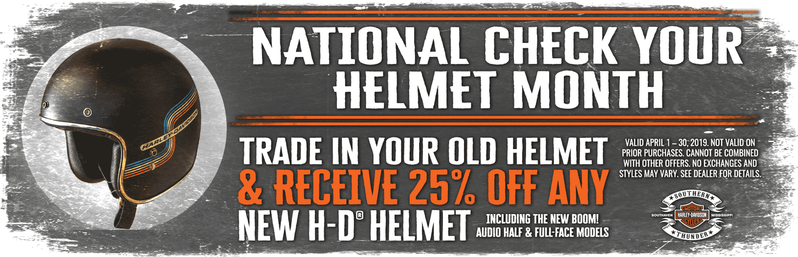 National Check Your Helmet Month
