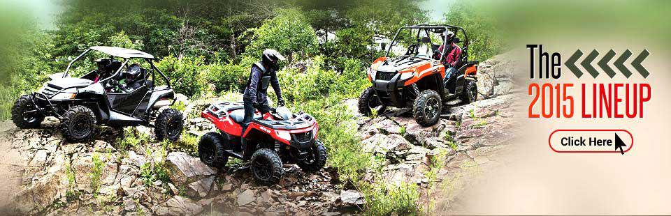 The 2015 Arctic Cat ATV and Side x Side Lineup: Click here to view the models.