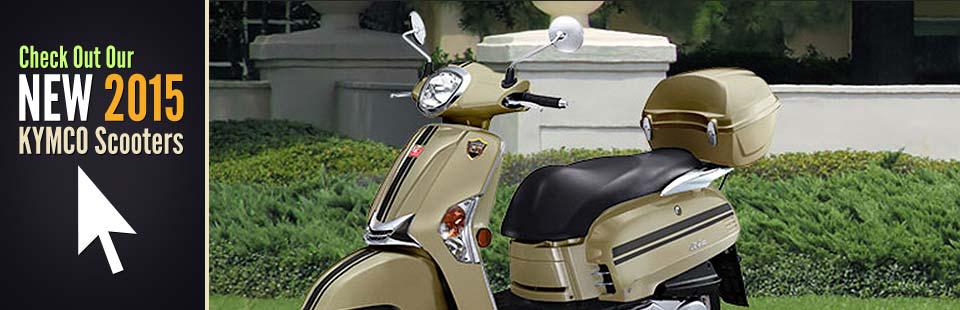 The 2015 KYMCO Scooters: Click here to view the models.