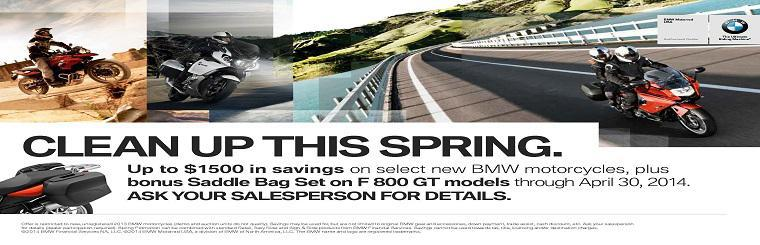 Up to $1500 in savings on select new BMW's