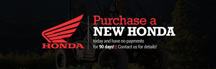 Purchase a new Honda today and have no payments for 90 days! Contact us for details.