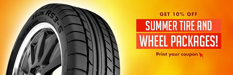 Click here to print your coupon for 10% off summer tire and wheel packages!