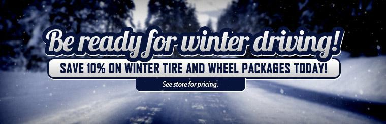 10% Off Winter Tire and Wheel Packages