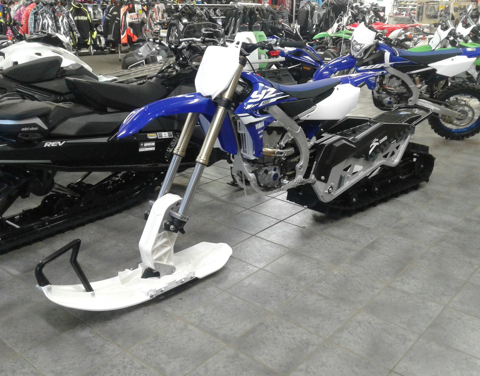 2018 yamaha yz 450f - camso snowbike conversion