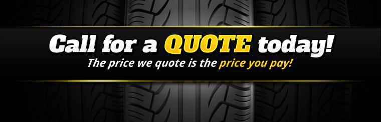 Click here to contact us for a quote today. The price we quote is the price you pay!