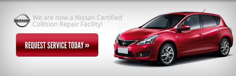 We are now a Nissan Certified Collision Repair Facility! Click here to request service.