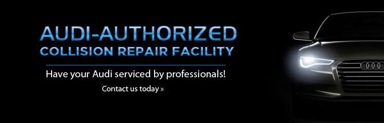 We are an Audi-authorized collision repair facility - have your Audi serviced by professionals! Click here to contact us for more information.