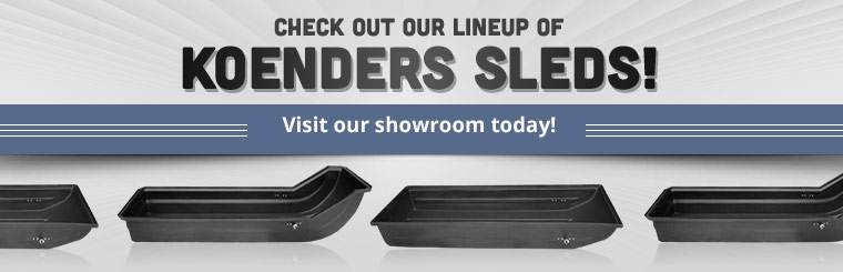 Koenders Sleds: Visit our showroom today or contact us for details.