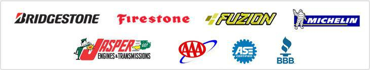 We offer products from Bridgestone, Firestone, Fuzion, and Michelin®. Jasper Engines. AAA. ASE Certified. BBB.