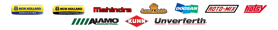 We carry products from New Holland, New Holland Construction, Mahindra, Land Pride, Doosan, Roto-Mix, Hotsy, Alamo, Kuhn Krause, and Unverferth.