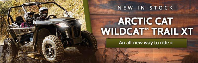Arctic Cat Wildcat™ Trail XT is new in stock. Click here to check it out.