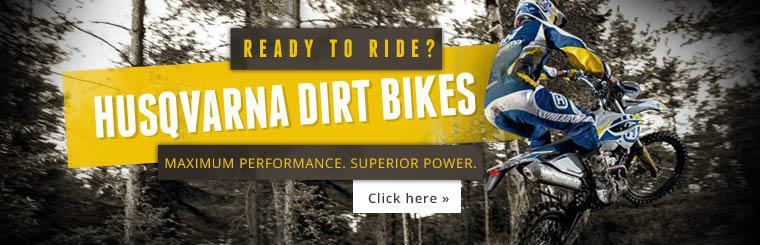 Click here to view Husqvarna dirt bikes.