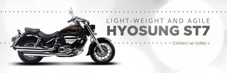 Hyosung ST7 is light-weight and agile. Click here to contact us for more information.