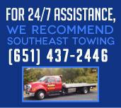 For 24/7 Assistance, We Recommend: Southeast Towing