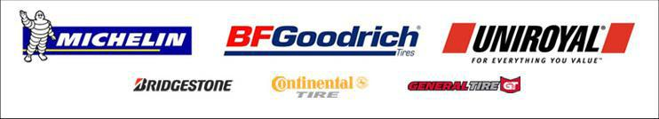 We carry products from Bridgestone, Continental, and General Tire.