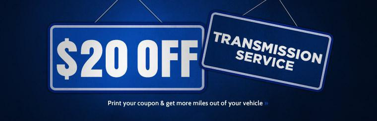 Get $20 off transmission service! Click here to print the coupon.